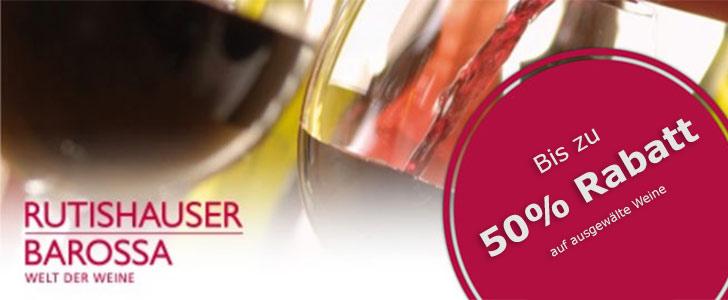 bis zu 50% auf ausgewählte Weine Rabatt