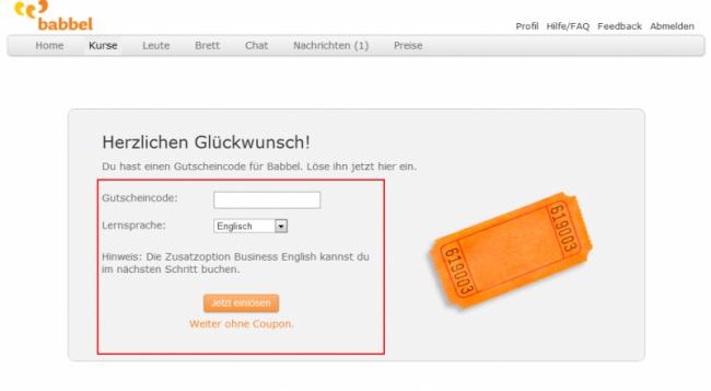 Gutschein-Hilfe Babbel.com