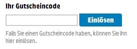 Gutschein-Hilfe HP Store