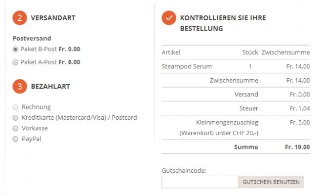 Gutschein-Hilfe shampoo.ch
