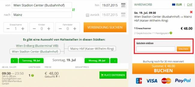 Gutschein-Hilfe Flixbus
