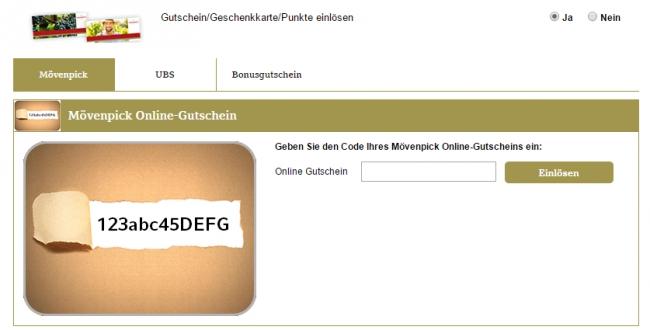 Gutschein-Hilfe Mövenpick Café