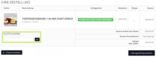Gutschein-Hilfe ReadytoBake.ch