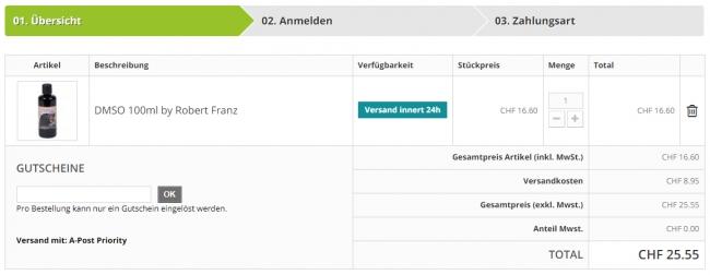 Gutschein-Hilfe naturversand24.ch