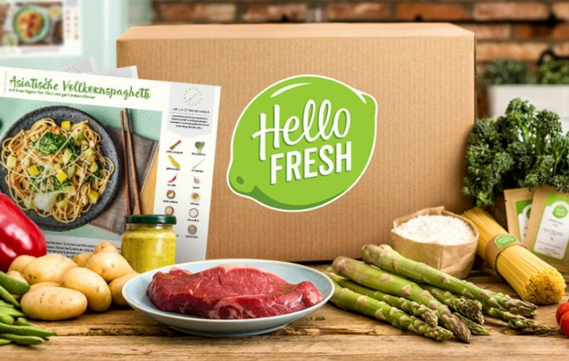 HelloFresh Box mit Inhalt