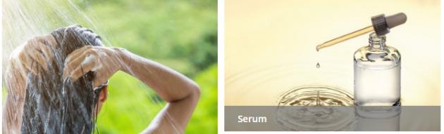 Serum und Shampoo von click&care