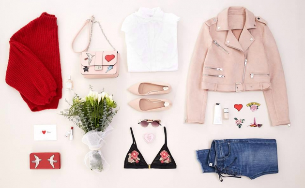 Pullover, Jacke, Hose Schuhe, Handtasche, Brille und BH von Stradivarius