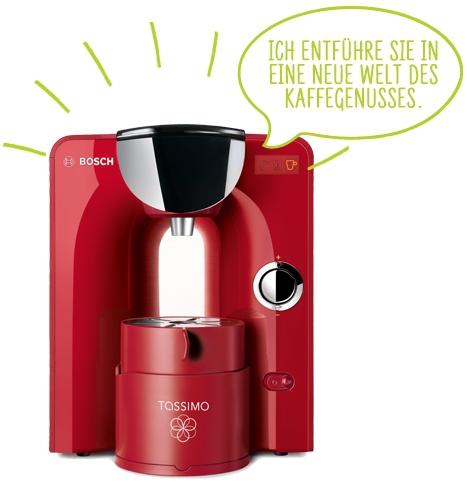 Rote Tassimo Maschine