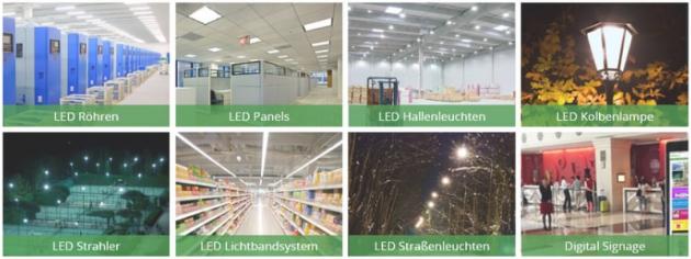 Verschiedene LED Produktebei TiroLED