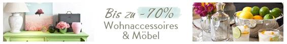 Bis zu -70% Wohnaccessoires & Möbel