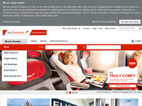 Screenshot von Austrian Airlines