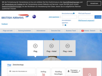 Screenshot von British Airways