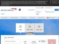 Screenshot von British Airways