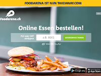 Screenshot von Foodarena.ch