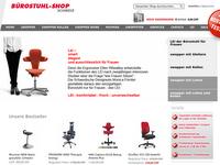 Screenshot von Bürostuhl-Shop.ch