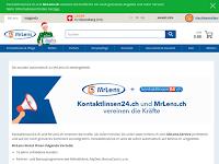 Screenshot von kontaktlinsen24.ch